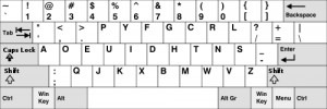 Dvorak layout in specified base language