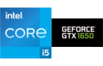 Intel® Core™ i5-1135G7 processor, 4 cores, 8 threads, 2.4 GHz, 4.2 GHz Turbo, 8 MB Smart Cache, cTDP 12-28W, Nvidia GeForce GTX-1650 4 GB Graphics