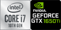 Intel® Core™ i7-10870H 6-Core Prozessor (12 Threads) 2.6GHz (5.0 GHz Turbo) 12MB Smart Cache  Nvidia GeForce GTX-1650 Ti 4096MB GDDR6 (NH77DEQ)