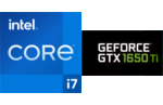 Intel® Core™ i7-1165G7 processor, 4 cores, 8 threads, 2.8 GHz, 4.7 GHz Turbo, 12 MB Smart Cache, cTDP 12-28W, Nvidia GeForce GTX-1650 Ti 4 GB Graphics
