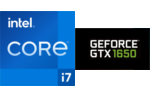 Intel® Core™ i7-1165G7 processor, 4 cores, 8 threads, 2.8 GHz, 4.7 GHz Turbo, 12 MB Smart Cache, cTDP 12-28W, Nvidia GeForce GTX-1650 4 GB Graphics